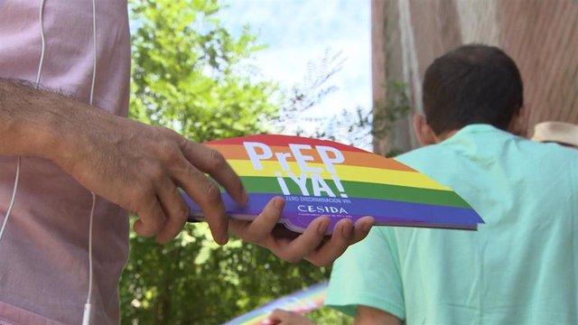 Carroza de CESIDA con motivo del Orgullo LGTBI 2018