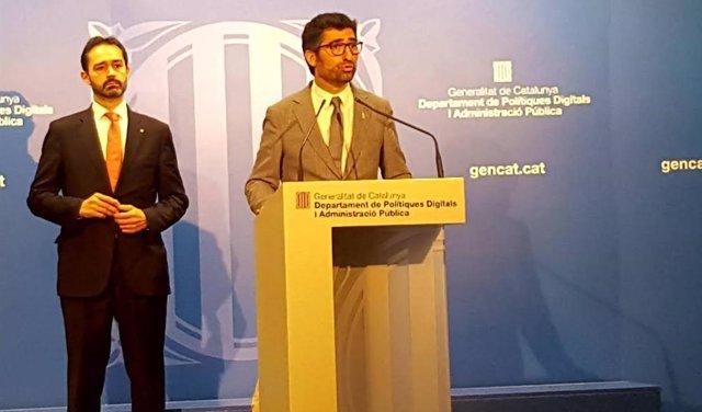 El conseller de Políticas Digitales, Jordi Puigneró