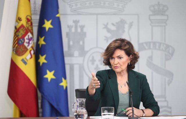 La vicepresidenta del Govern vcentral, a Madrid (España), a 31 de octubre deL 2019.