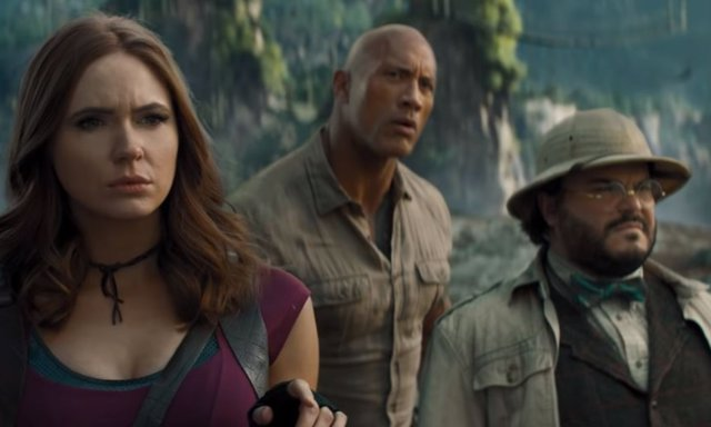 El trío protagonista de la nueva entrega de Jumanji
