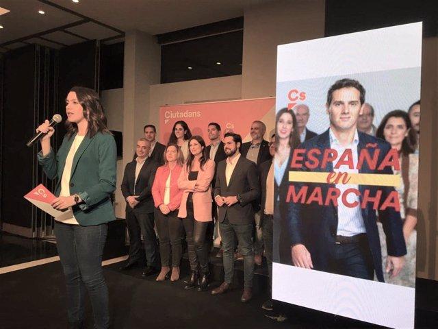 Inés Arrimadas obre la seva campanya com a candidata de Cs al Congrés per Barcelona en les eleccions generals del 10 de novembre de 2019