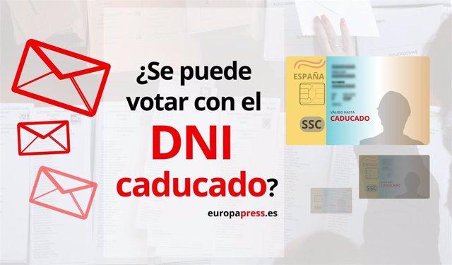 Se puede votar con el DNI caducado.