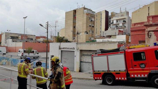 Edifici deteriorat a Badalona.