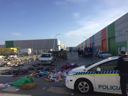 Intervenidas once toneladas de materiales de hurtos en un dispositivo contra la venta ilegal en Melilla