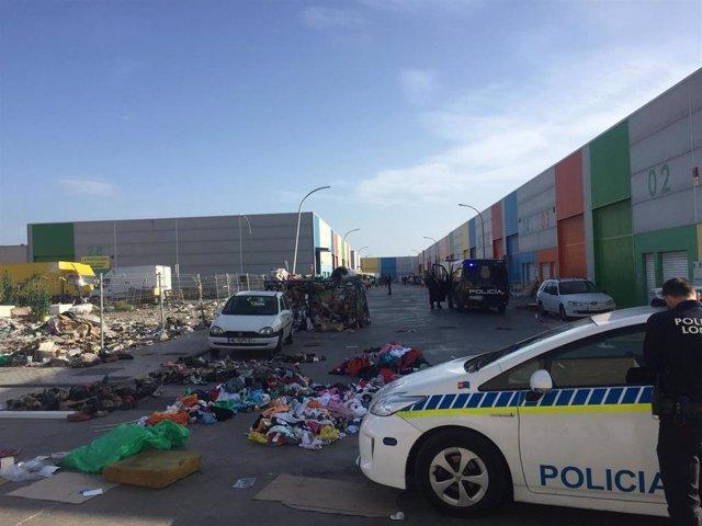 Material intervenido en Melilla
