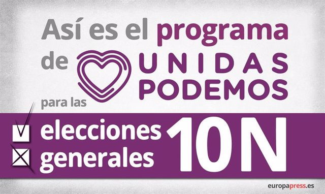 Así es el programa de Unidas Podemos para las elecciones generales del 10N