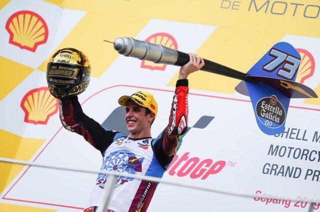 El pilot espanyol Àlex Márquez (Estrella Galicia 0,0 Marc VDS), campió del món de Moto2.