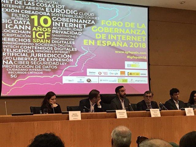 Inauguración del Foro de la Gobernanza en Internet 2018 (IGF Spain)