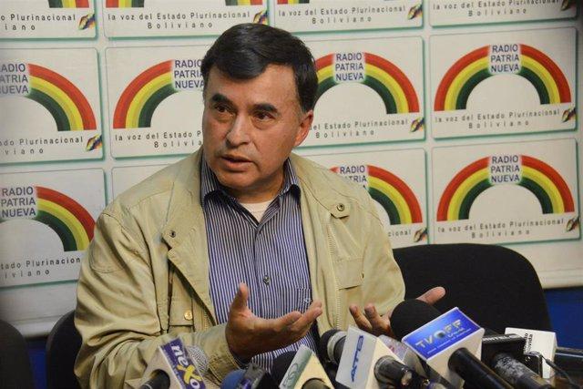El ministro de la Presidencia de Bolivia, Juan Ramón Quintana