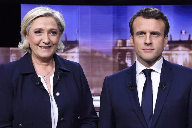 Francia.- Macron y Le Pen, empatados para las presidenciales francesas de 2022