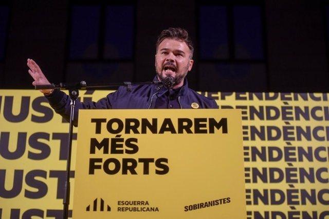 El cap de llista d'ERC al Congrés per Barcelona,  Gabriel Rufián