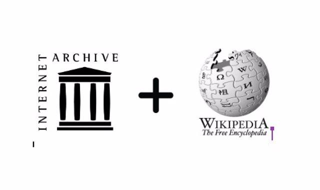 Wikipedia enlaza referencias de los artículos a libros guardados por el Archivo