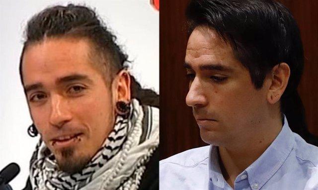L'acusat pel 'crim dels tirants', Rodrigo Lanza, mostra un radical canvi d'imatge, en el judici per matar presumptament Víctor Laínez per portar uns tirants amb la bandera d'Espanya el desembre del 2017.