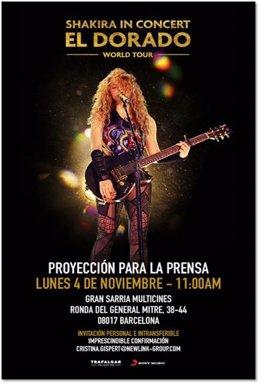 Cartell del llargmetratge 'Shakira en concierto: El Dorado World Tour'