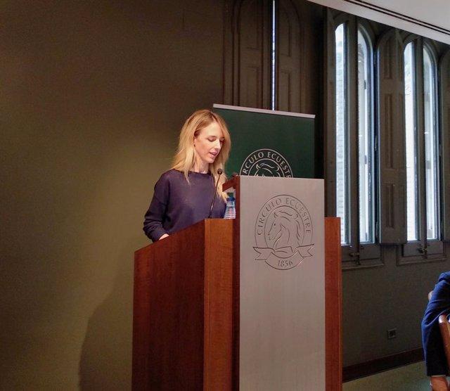 La candidata del PP en el 10N per Barcelona, Cayetana Álvarez de Toledo, al Cercle Eqüestre.
