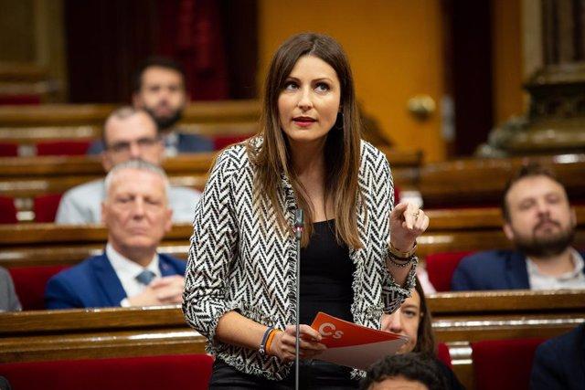 La portaveu de Ciutadans al Parlament de Catalunya, Lorena Roldán, a Barcelona (Espanya), a 23 d'octubre del 2019.