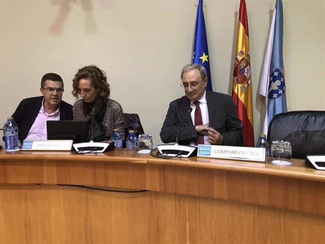 El director de la CRTVG, Alfonso Sánchez Izquierdo, comparece en el Parlamento de Galicia