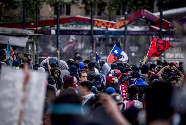 Protestas en Santiago de Chile contra el Gobierno de Sebastián Piñera