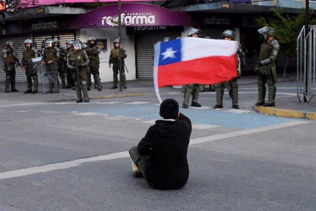 Protestas contra el Gobierno en Concepción, Chile