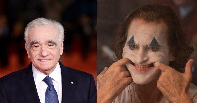Martin Scorsese y Joker, interpretado por Joaquin Phoenix