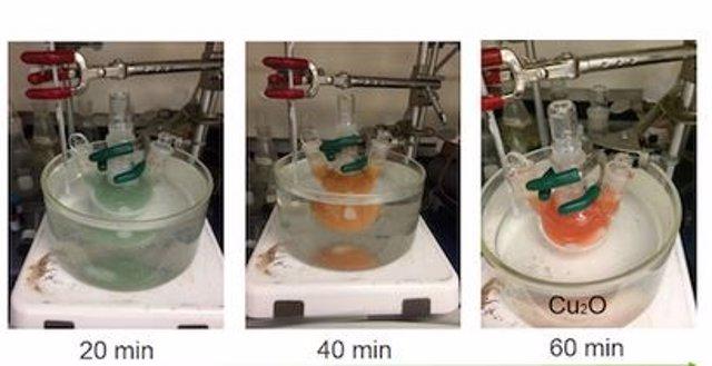 Reacción durante el experimento