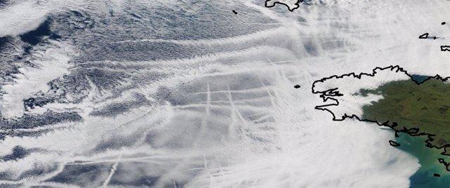 Seguimiento por satélite muestra cómo los barcos afectan al clima