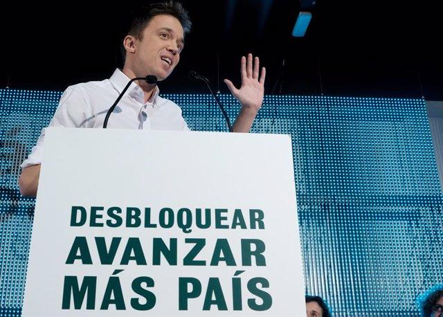 El candidat de Més País a la Presidència del Govern espanyol, Íñigo Errejón