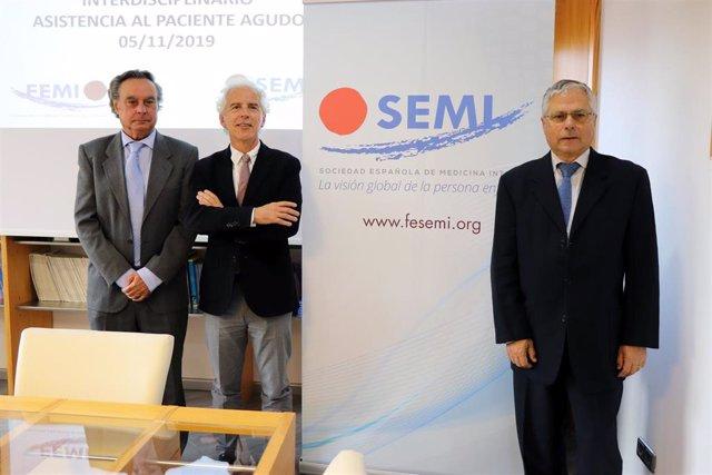 Javier Elola, Ricardo Gómez Huelgas y Fernando Carballo.