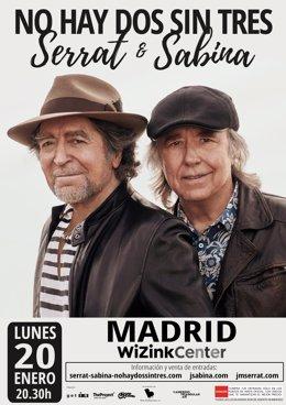 Serrat y Sabina anuncian concierto en el WiZink Center de Madrid