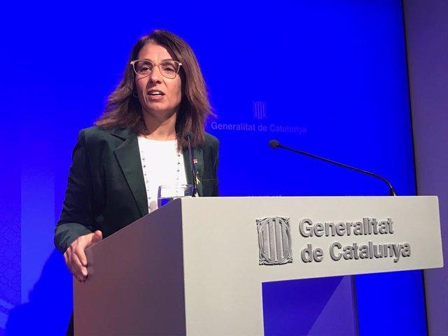 La consellera de Presidència de la Generalitat, Meritxell Budó.