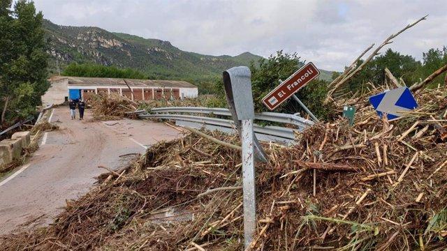 Resultats de les pluges a Vilaverd (Tarragona)