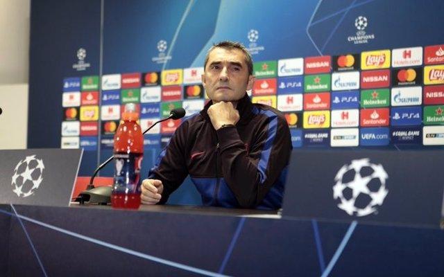 "Fútbol/Champions.- Valverde: ""Vamos a preocuparnos un poquito, pero tampoco tant"