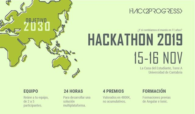 COMUNICADO: V edición hackathon Hack2Progress '¿Y si cambiamos el mundo en once