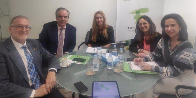 De izq a dcha: uan Luis Steegmann, Jesús Aguilar, Eva Arbeo, Ana López-Casero y Raquel Martínez.