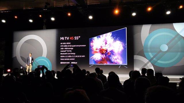 Anunci de Xiaomi a Madrid de l'arribada a Espanya dels seus televisors intel·ligents