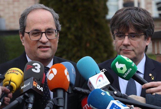 Quim Torra, Carles Puigdemont (Archivo)