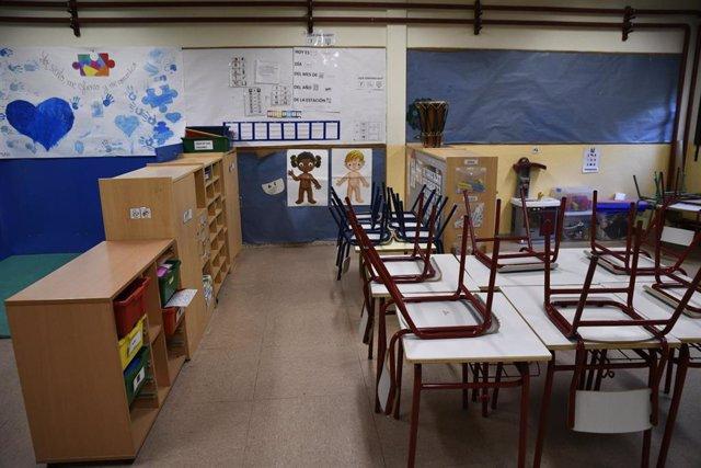 Aula de Infantil del Colegio de Educación Infantil y Primaria (CEIP) Joaquín Costa de Madrid.