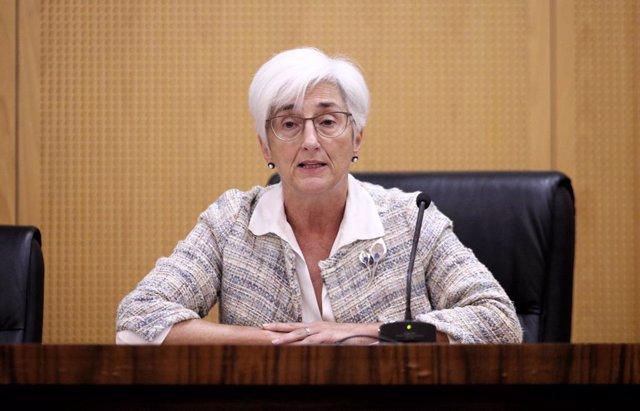 La Fiscal General de l'Estat, María José Segarra, compareix davant els mitjans amb la finalitat d'exposar una valoració preliminar en relació a la sentència del Tribunal Suprem (Causa especial 20907/2017) sobre el procés independentista català de 1-O