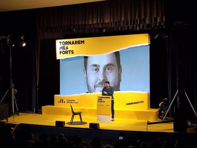 El candidat d'ERC a les eleccions generals,  Gabriel Rufián