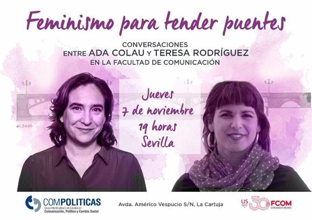 Acte amb Ada Colau i Teresa Rodríguez a  Sevilla.