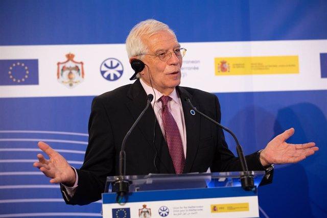 El ministre d'Afers Exteriors en funcions, Josep Borrell, en el Frum Regional de la Unió pel Mediterrani.