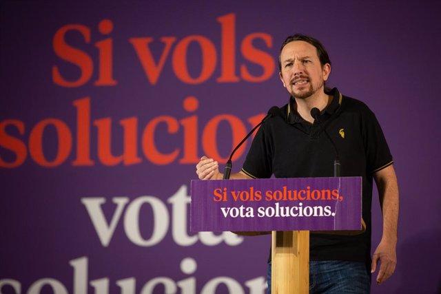 El secretari general d'Unides Podem, Pablo Iglesias.