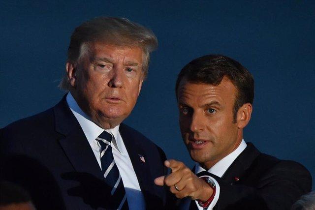 Donald Trump y Emmanuel Macron
