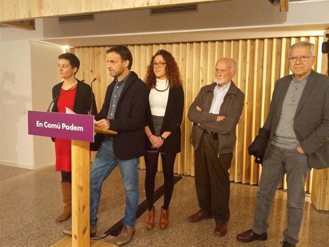 Jaume Asens (ECP) amb Ska Keller, Aina Vidal, José María Mena i Josep Maria Vallès.