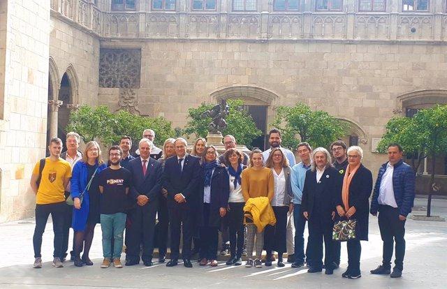 El president Quim Torra rep representants dels claustres de les universitats catalanes