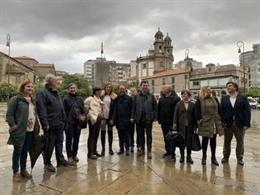 El secretario de justicia y nuevos derechos, Andrés Perelló, con los socialistas gallegos en Pontevedra