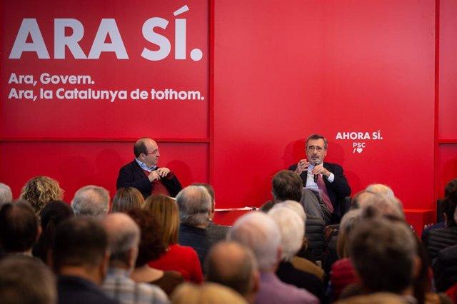 Presentació del manifest 'Ara, Senat. Ara, dileg' amb Miquel Iceta i Manel Cruz.