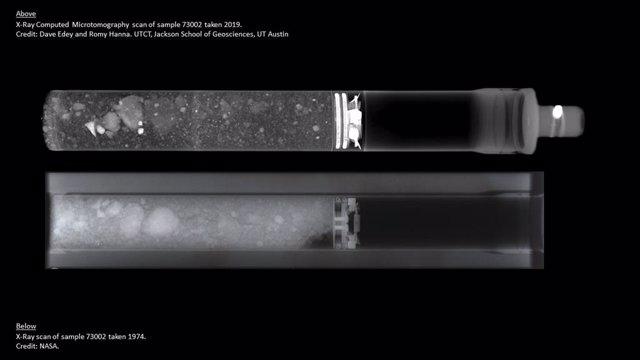 La NASA 'descorcha' muestras del Apolo para su regreso a la Luna
