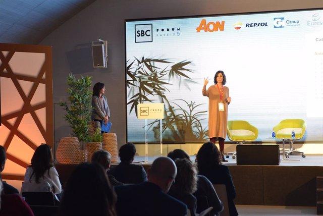 Marta de la Fuente, responsable del Servicio de Psicooncología de MD Anderson Cancer Center Madrid, durante la presentación del estudio 'El cáncer en la empresa. Perspectivas 2020'.