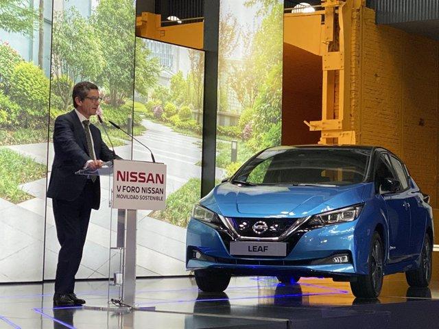 Mario Armero, vicepresidente ejecutivo de Anfac, en el 'V Foro Nissan de la Movilidad Sostenible', en Madrid
